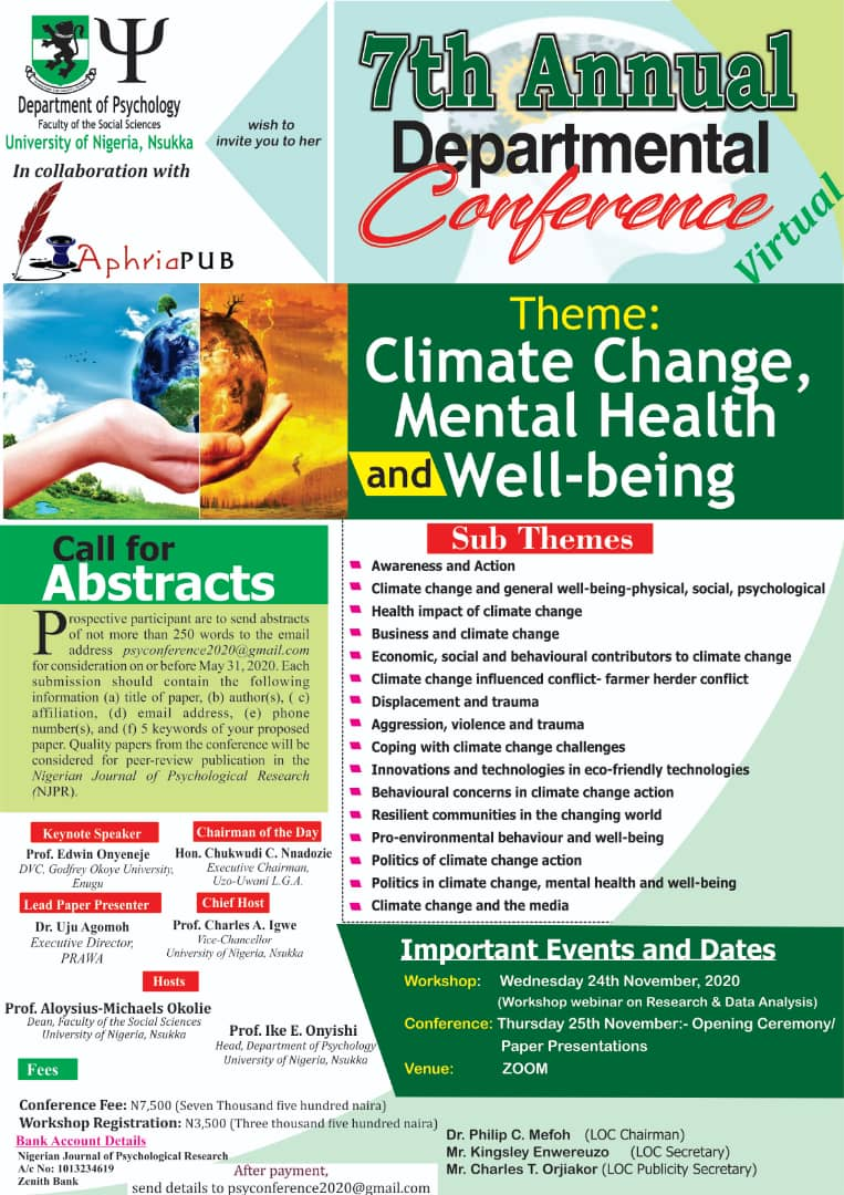 7th Annual Departmental Conference
